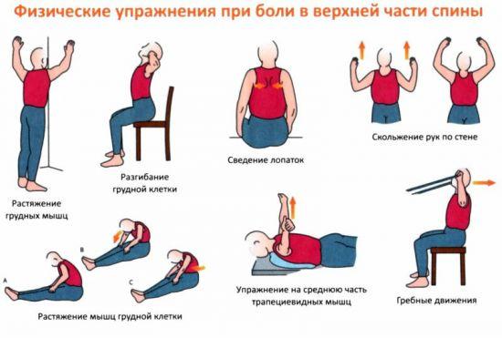 ЛФК при боли в грудном отделе позвоночника