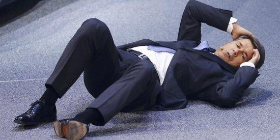 Мужчина упал