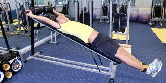 Упражнения на наклонной доске