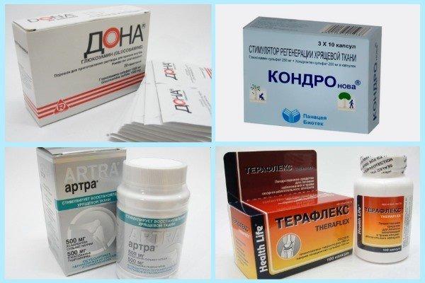Представители группы препаратов хондропротекторов